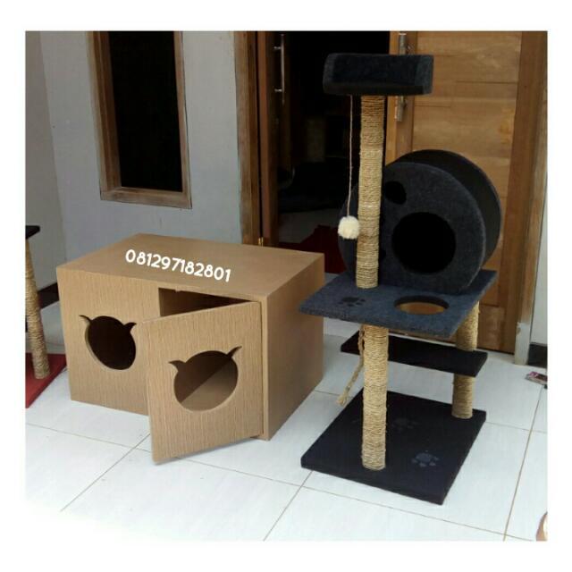 mainan kucing/cat condo/cat scratcher/cat tree/garukan kucing