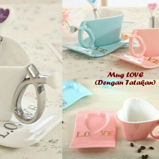 Mug Love Bahan Keramik