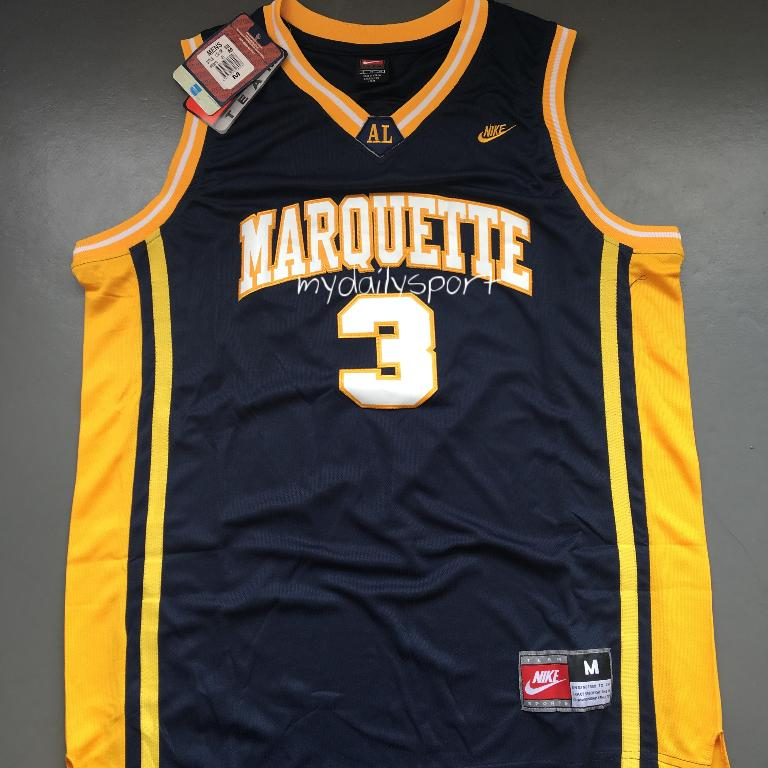on sale 85fe4 4bc61 PO] NCAA Marquette Golden Eagles Dwyane Wade Jersey, Sports ...