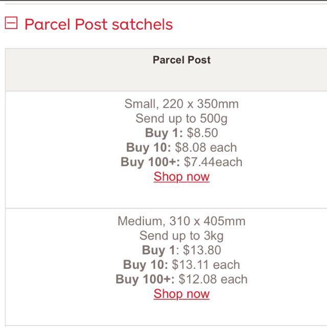 Regular Parcel Post