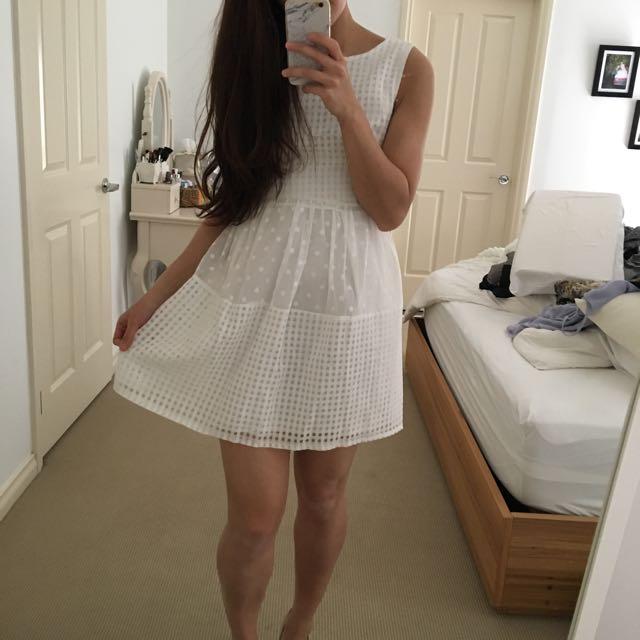 Simple White Kate Middleton Style Dress