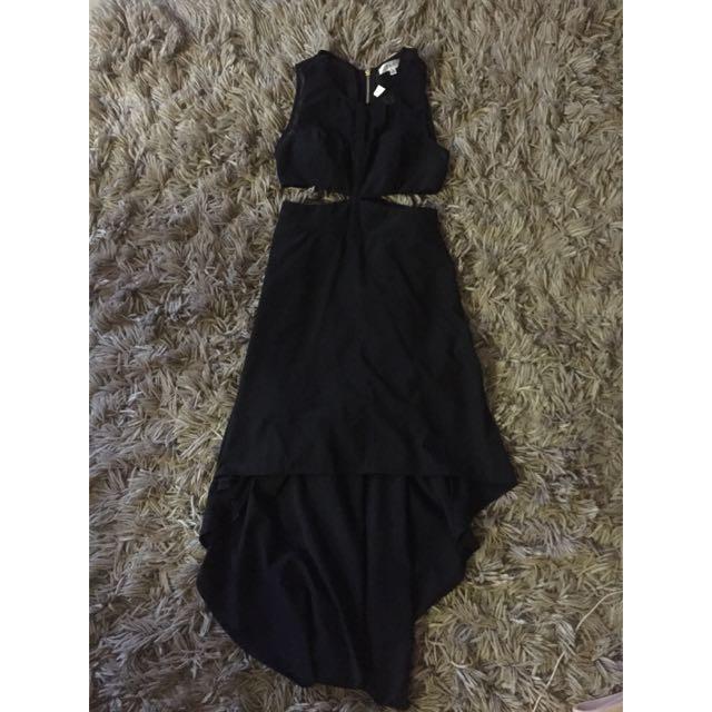 Size 8 Black Cut Our Dress