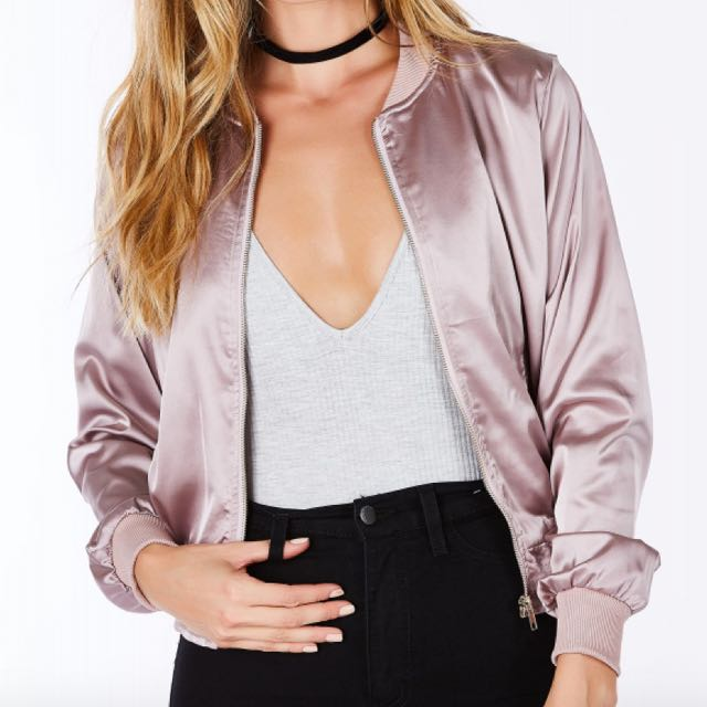 Small Champagne Bomber Jacket