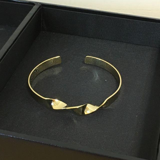 Starmimi 扭轉造型金色手環