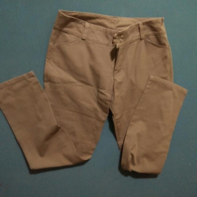 Tan Office pants Large 30-33
