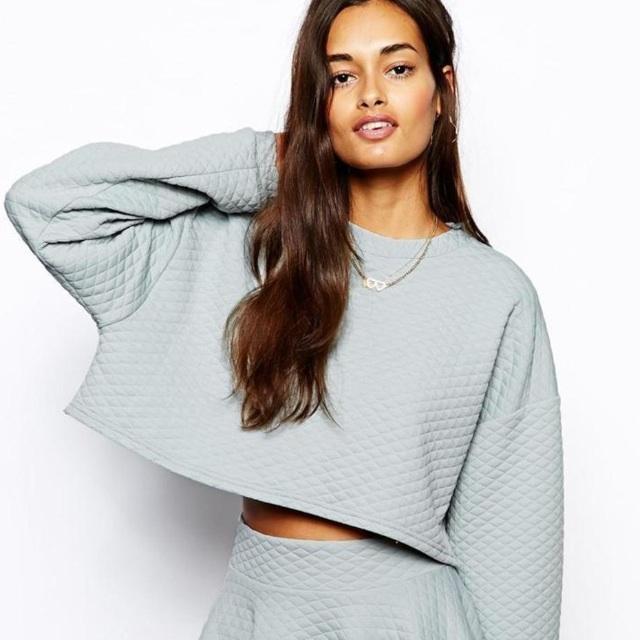 The Laden Showroom X Renee London Quilt Crop Sweatshirt