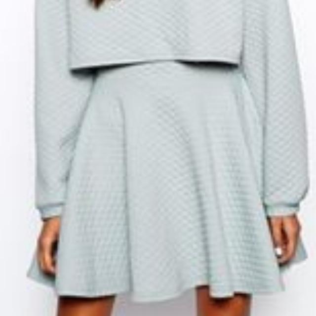 The Laden Showroom X Renee London Quilt Skater Skirt - Grey / S