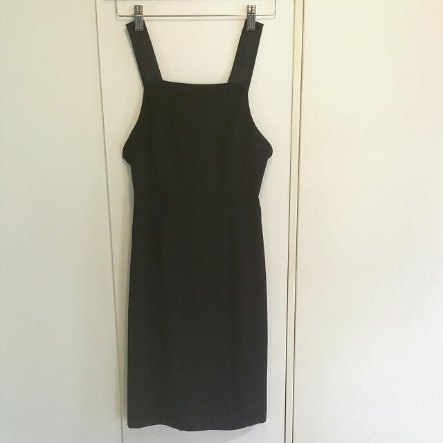 Top Shop Navy Fitted Dress Size 8