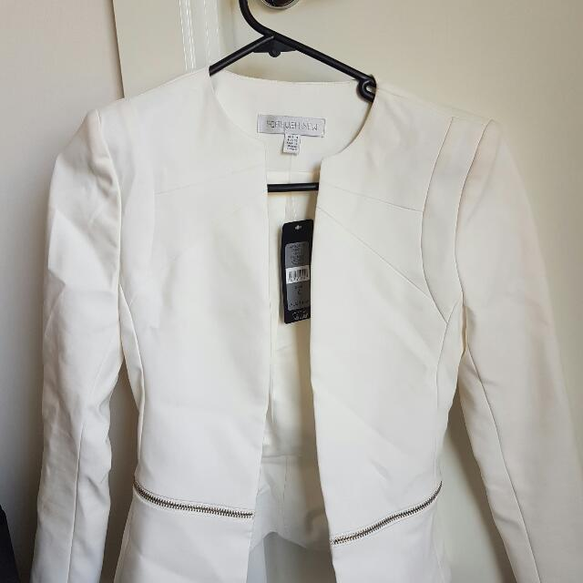 white forever new formal  jacket
