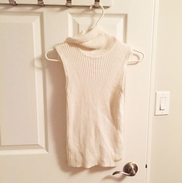 White Turtleneck Sleeveless