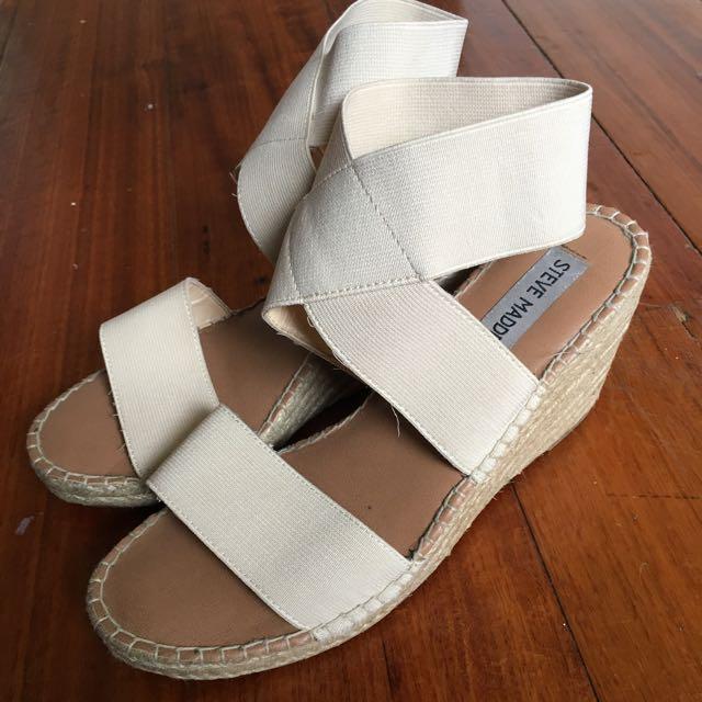 White Wedge Sandal