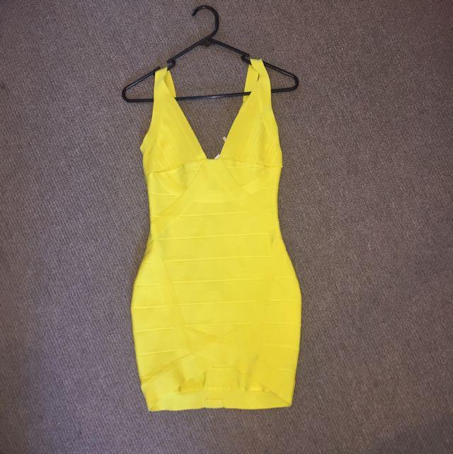Yellow Bandage Dress