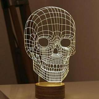 7 LED Skull Light With A REMOTE CONTROL