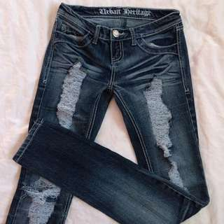 Skinny Ripped Jeans (Size 1)