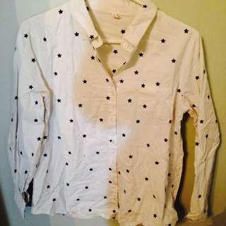 Stars White Shirt