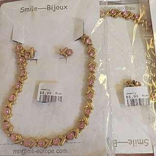 Bijoux  Cubic Zirconia Necklace And Earring Set