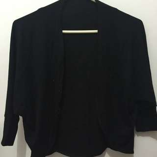 Balck Open Cardigan