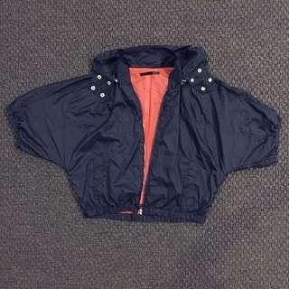 HEATHER Dark Blue Parachute Bomber Jacket