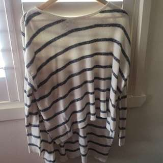 THREE OF SOMETHING Knit Top Size XS