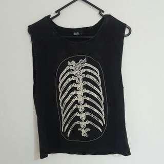 DOTTI Skeleton Lace Print Tank Top