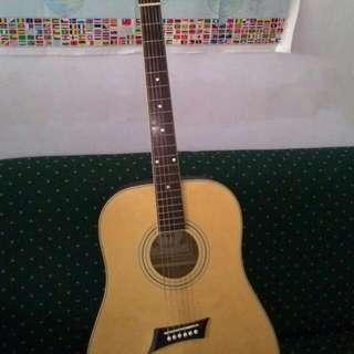 新款木質吉他 附背袋 教學書