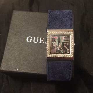 Guess Suade Watch