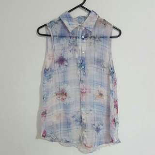 FOREVER NEW Silk Floral Shirt
