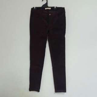 Dont Ask Amanda Purple Suede/velvet-Like Pants