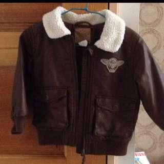 H&M 騎士皮外套