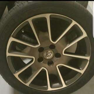 17 inch volvo stock rims with michelin pilot sport 3 tyres