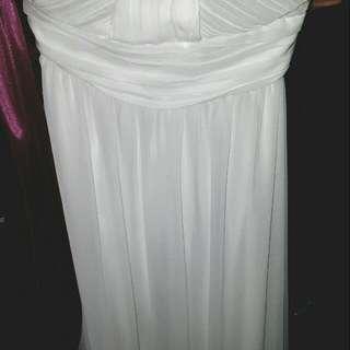 BN  Sugar Surges TUBE WHITE DRESS