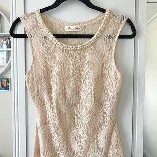 Alannah Hill lace/pearl cami