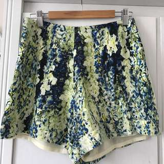 Alannah Hill - highwaisted silk shorts