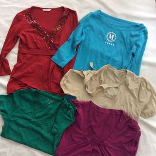 Marks & Spencer + Mango etc Collection of Women Tops (Aus 6 to 8)