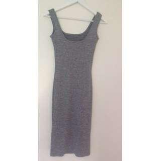 Bardot Grey Knit Dress