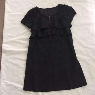 Silk-like Easy Care Little Black Dress Size AUS 6 / 8