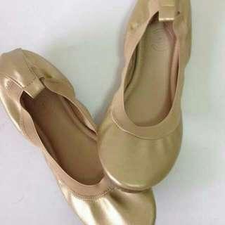 Gold Comfy Flats