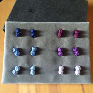 [New] PYE Chinese style solid knot cufflinks X 6