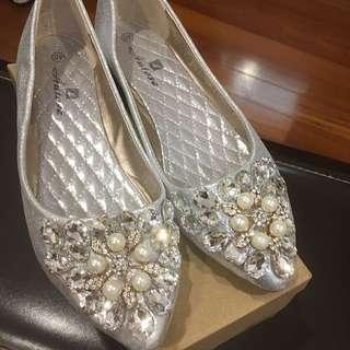 亮晶晶娃娃平底女鞋(婚鞋)