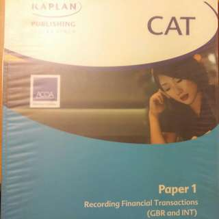 ACCA CAT Paper 1 (UK and Int) Recording Financial Transactions Text Book連 Exam Kit 共2本