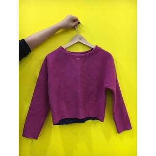 Pink felt sweater