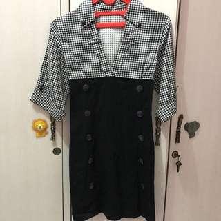 Checkered Black Chic Top