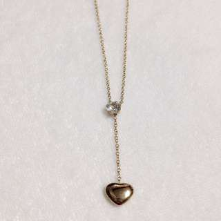 Gold Heart Stainless Steel Necklace