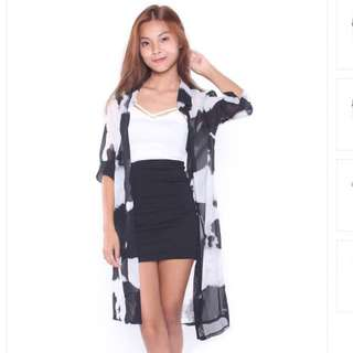 AYANA BLACK WHITE PATCH OUTERWEAR