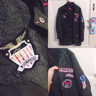 Patches Army Green Parka