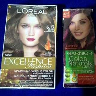 Hair Colors (Loreal And Garnier)