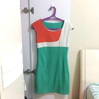 Dress Pesta / Mini Dress / Dress Hijau / Bodycon