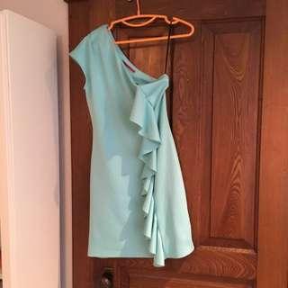 One Shoulder Ruffled Dress