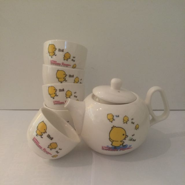 療癒小黃鴨茶具組(降價了)