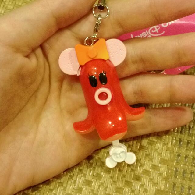 迪士尼 米妮熱狗食玩吊飾